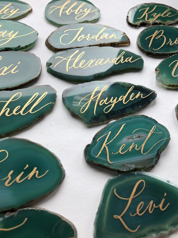 small wedding ideas - fancy place cards