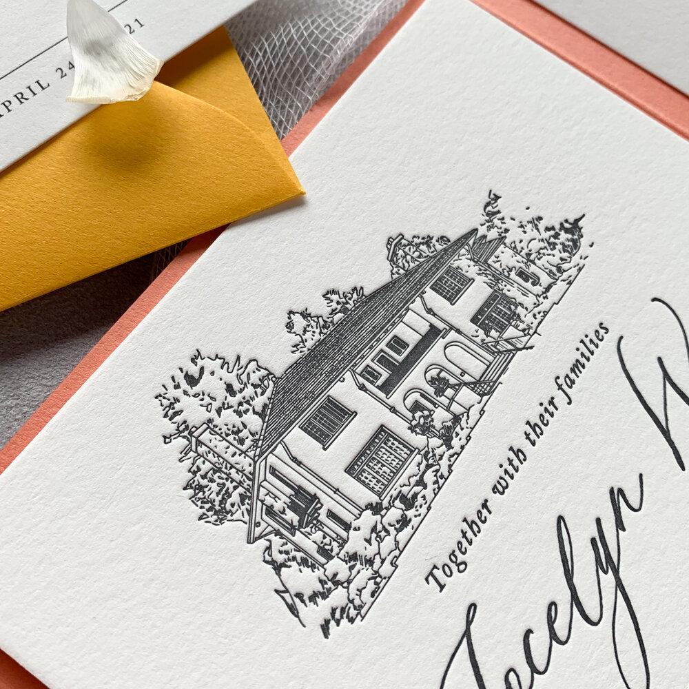 monarch design co elsie perrin williams estate invitation
