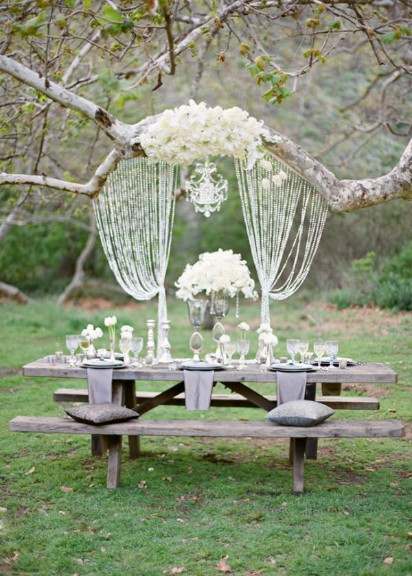 small wedding ideas - backyard set up