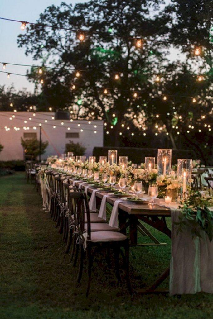 small wedding ideas - intimate lighting