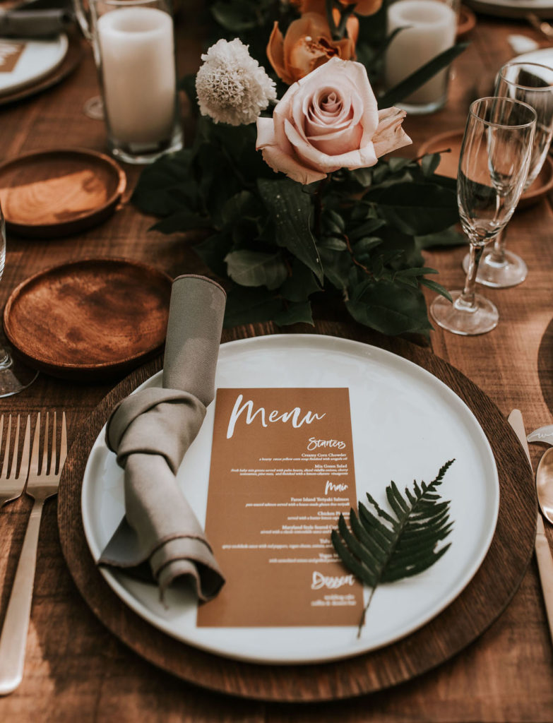 small wedding ideas - personal menu