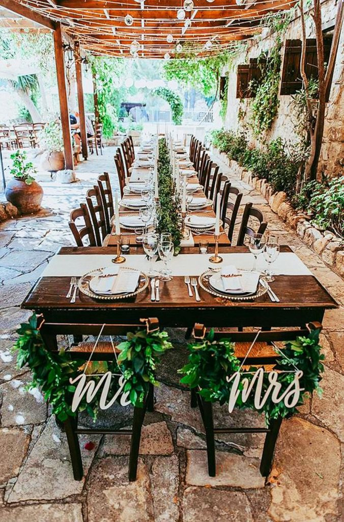 small wedding ideas and table layouts 2