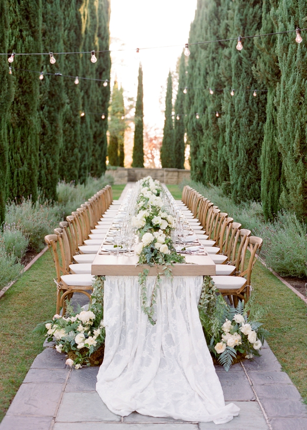 small wedding ideas - table layouts