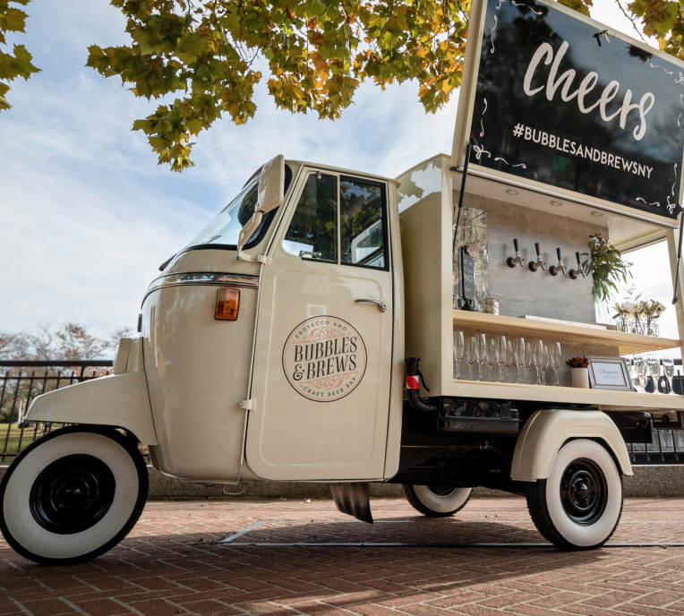 vintage wedding drink truck - small wedding ideas