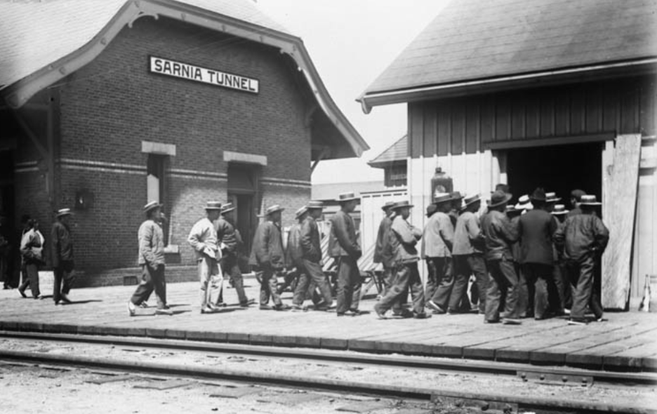 Asian Heritage Month in Canada: Chinese at Sarnia Tunnel Train Station