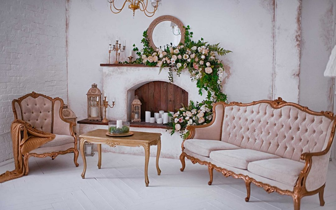 How to decorate a fireplace for an event